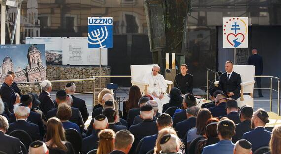 Návšteva pápeža Františka na Slovensku - stretnutie so židovskou komunitou